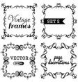 set 2 Retro vintage frames vector image