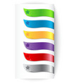 set colorful ribbons with star vector image