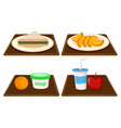 set of breakfast meal vector image