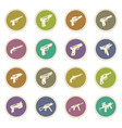 set of hand weapons vector image vector image