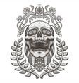 skull usaskull bandana usa flag vintage ill vector image vector image