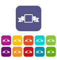 small square banner icons set