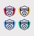 soccer logo or football club sign badge set vector image vector image