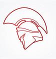 spartan warrior helmet weapon head roman fighter vector image