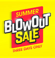 summer blowout sale banner vector image vector image