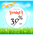 summer selling ad banner fifty percent holiday vector image vector image