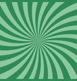 swirl retro sunburst green spiral flat design vector image