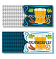 the theme oktoberfest vector image