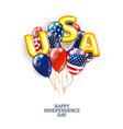 us patriotic balloons colored balloons specially vector image