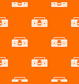 vintage tape recorder pattern seamless vector image vector image