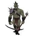 Warrior ogre vector image vector image