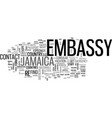 what can the us embassy in jamaica do for you vector image vector image