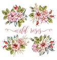 Wild Roses Bouquets Collection vector image vector image