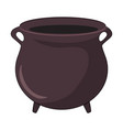 witches cauldron pot design isolated on white vector image
