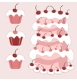 Cake with cherries vector image