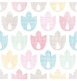 Abstract textile geometric tulips colorful vector image