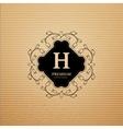 Elegant monogram design at cardboard vector image