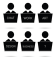 people icon work silhouette vector image