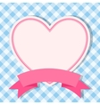 blue frame with heart for invitation card vector image