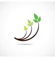 Green leaf logo design symbol vector image
