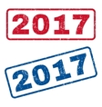 2017 Rubber Stamps vector image vector image