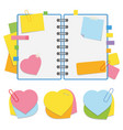 a colored open notepad on the spring with clean vector image vector image