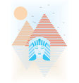 Abstract ancient Egypt vector image