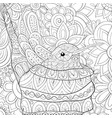 adult coloring bookpage a cute hummingbird on the vector image