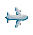 airplane flight transportation style to travel vector image