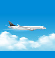 airplane over the top composition vector image