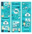 banners of global online security vector image vector image
