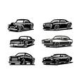 black retro car vector image vector image