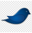blue bird icon isolated on transparent background vector image