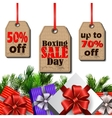Boxing day tag vector image vector image