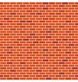 brick wall seamless pattern red bricks vector image vector image