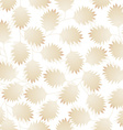 Brown pointy leaves in a seamless pattern vector image
