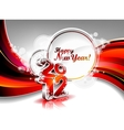 calendar design 2012 on red wave background vector image