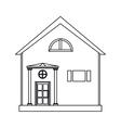 cartoon family house exterior concept vector image vector image