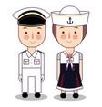 cartoon of cute nautical vector image vector image