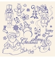 Christmas decorative collection Merry Christmas vector image vector image