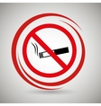 cigarette prohibited danger icon vector image vector image
