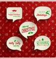 collection holiday speech bubbles with various vector image vector image
