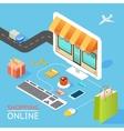 concept online shop vector image vector image