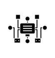 connection black icon concept vector image vector image