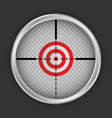 crosshair target icon realistic style vector image vector image