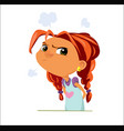 digital funny cartoon sad young vector image vector image