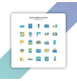 electric appliances icon set flat style vector image