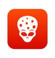extraterrestrial alien head icon digital red vector image vector image