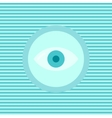 Eye color flat icon vector image
