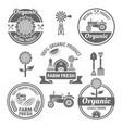 farm fresh products labels badges emblems vector image